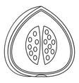 watermelon icon outline style vector image
