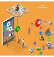 Web development flat isometric concept vector image