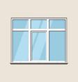 window classic plastic glass construction build vector image