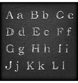 Sketched Hand drawn alphabet A-L vector image