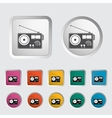 Radio single icon vector image