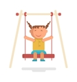 girl go for a drive on swing vector image
