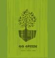 go green recycle reduce reuse logo design vector image