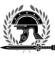 roman helmet vector image vector image