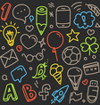 Different web interface silhouettes doodle clip-ar vector image