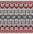 nordic snowflake pattern vector image vector image