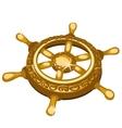 Golden ships rudder closeup single fragment vector image