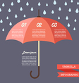 Umbrella strategy template infographic vector image