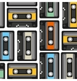 cassette pattern background icon vector image