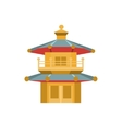 Chinese Architecture Style Tower Simplified Icon vector image