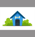 dog house training vector image