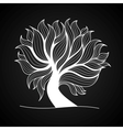 Doodle tree black and white color vector image