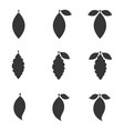 leaf icon or element isolated vector image