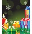 Magic green Christmas background vector image