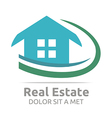 Real Estate Shape Home Construction Company vector image