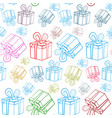 seamless gift boxes pattern present box wrapping vector image