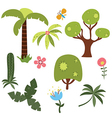 Set of African trees vector image