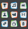set of simple movie icons vector image