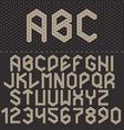Triangle Font Geometric alphabet on dark b vector image