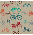Vintage Bicycles Seamless Pattern vector image