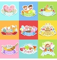 Event Template Labels Set Of Cute Stickers vector image