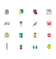 medicine icon set flat vector image
