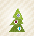 Christmas tree with infographics minimal style vector image vector image