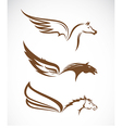 image of an pegasus winged horses vector image vector image