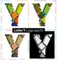 3d font letter Y vector image vector image