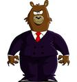 financial bear vector image vector image