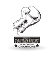 Boxing design Tournament icon White background vector image