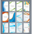 business cards brochures or banners set of vector image