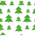 Christmas tree seamless pattern Christmas tree vector image
