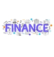 Finance Background with icons and elements vector image