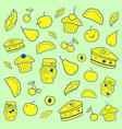 fruits autumn pattern vector image