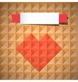 Heart Symbol on Retro Triangle Background vector image