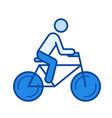 road bike line icon vector image