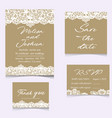 templates of invitation lace cards for wedding vector image