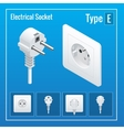 Isometric Switches and sockets set Type E vector image vector image