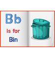 A picture of a bin in a book vector image vector image