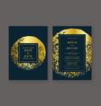 trendy wedding invitation vector image