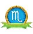 Gold Scorpio logo vector image