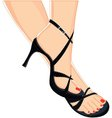 female sandals vector image vector image