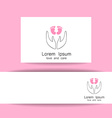 love and care logo template vector image