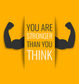 Motivational fitness poster vector image