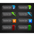 Glossy download buttons set vector image