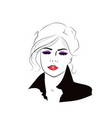 beautiful hand drawn girl with hairstyle fashion vector image