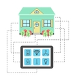 concept of smart house vector image