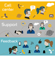 Customer service banners vector image