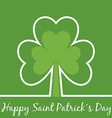 Greetings for Saint Patrick's Day with Shamrock vector image